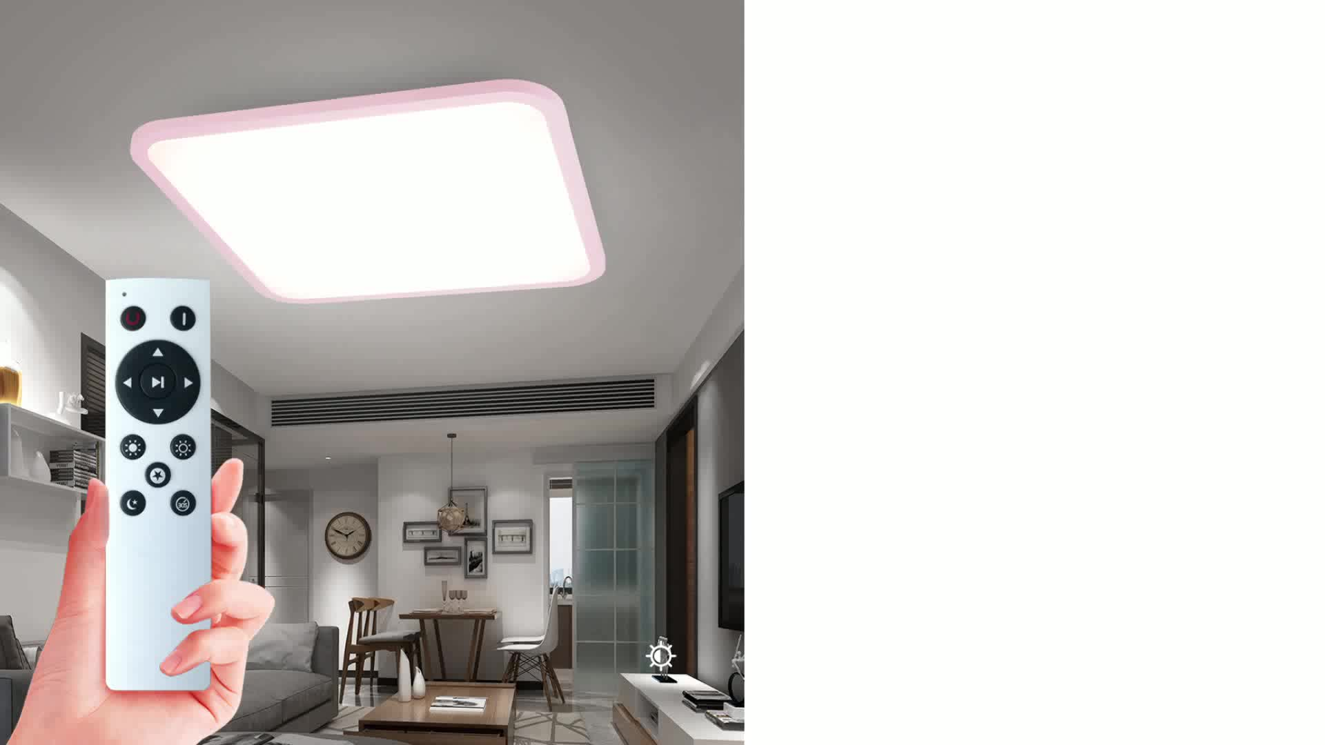 Ultra Thin Lamparas De Techo Customized Infrared Ceiling Light Vintage Residential European Panel Square Mirror LED Ceiling Lamp