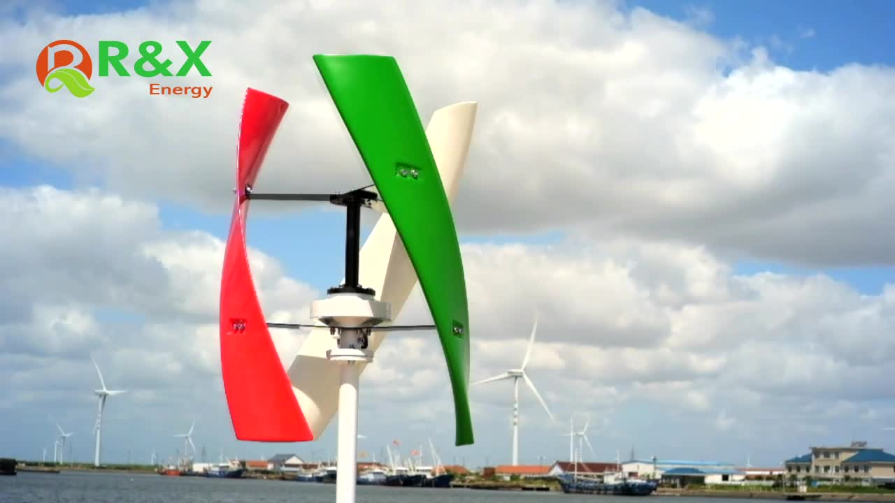 Factory Price 600W Vertical Axis Wind Turbine Generator For Home Use