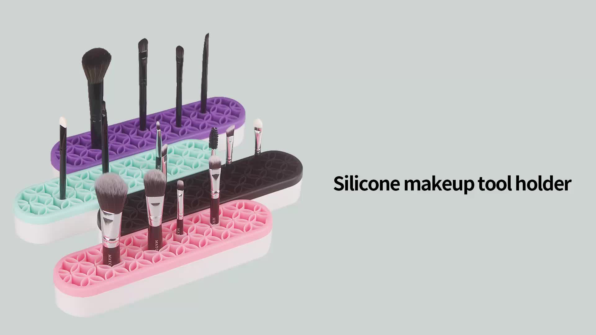 Silicone makeup brush holder Silicon make up brush beauty products display shelf for cosmetic brush dry rack