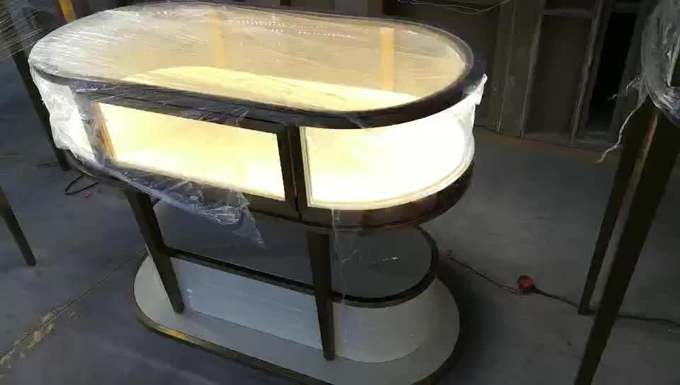 Aluminum Glass Top Jewelry Display Case Jewelry Display Showcase Glass Jewellery Display Cabinets For Shop