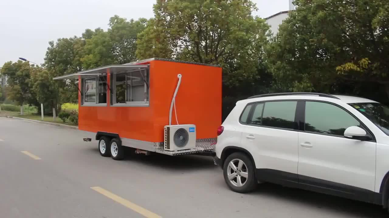 Commercia food cart mobile kitchen food truck trailer fast food truck for sale