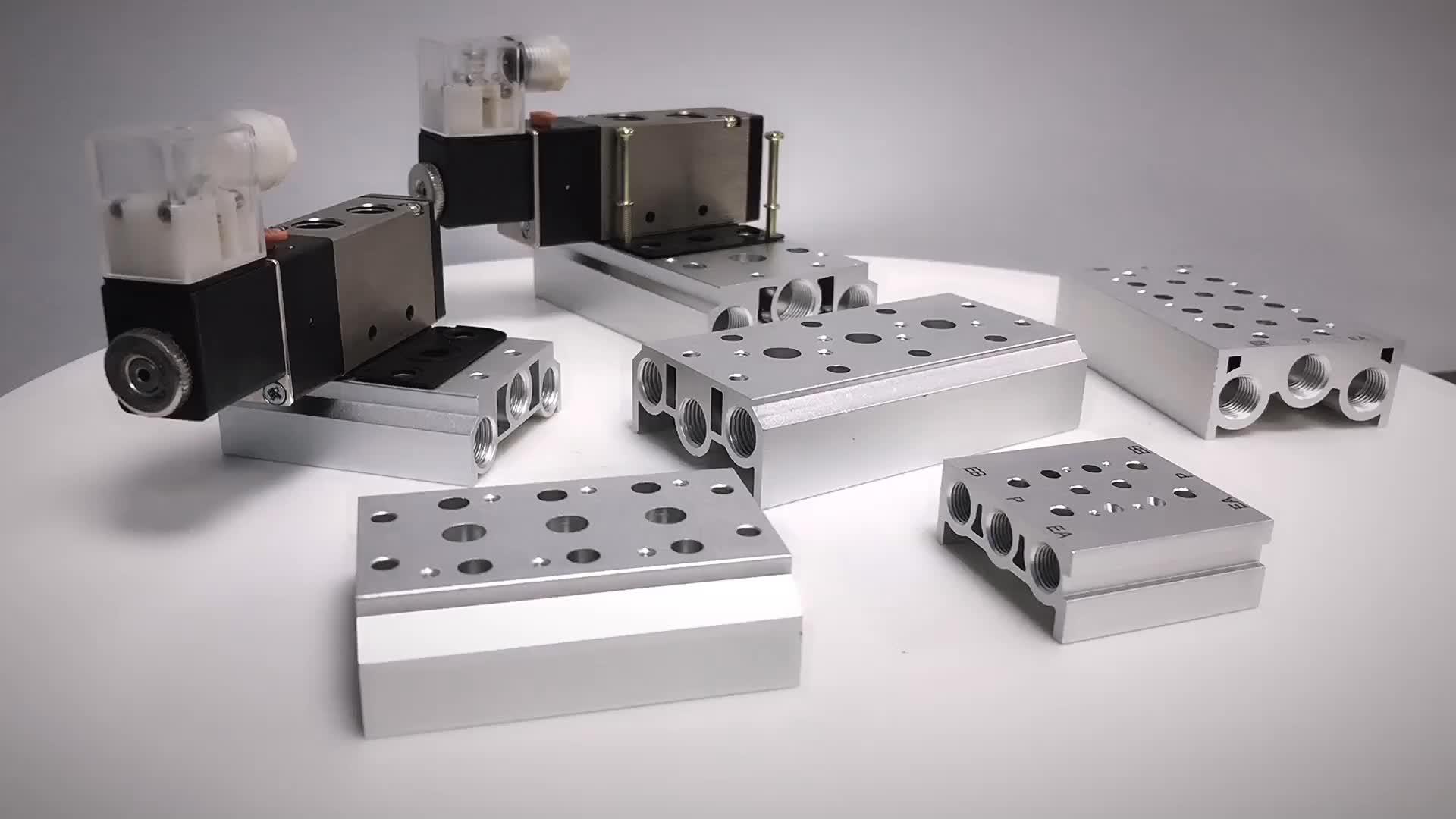 कम दबाव 100 m मिश्र धातु 4V110 वाल्व Solenoid वाल्व के लिए आधार