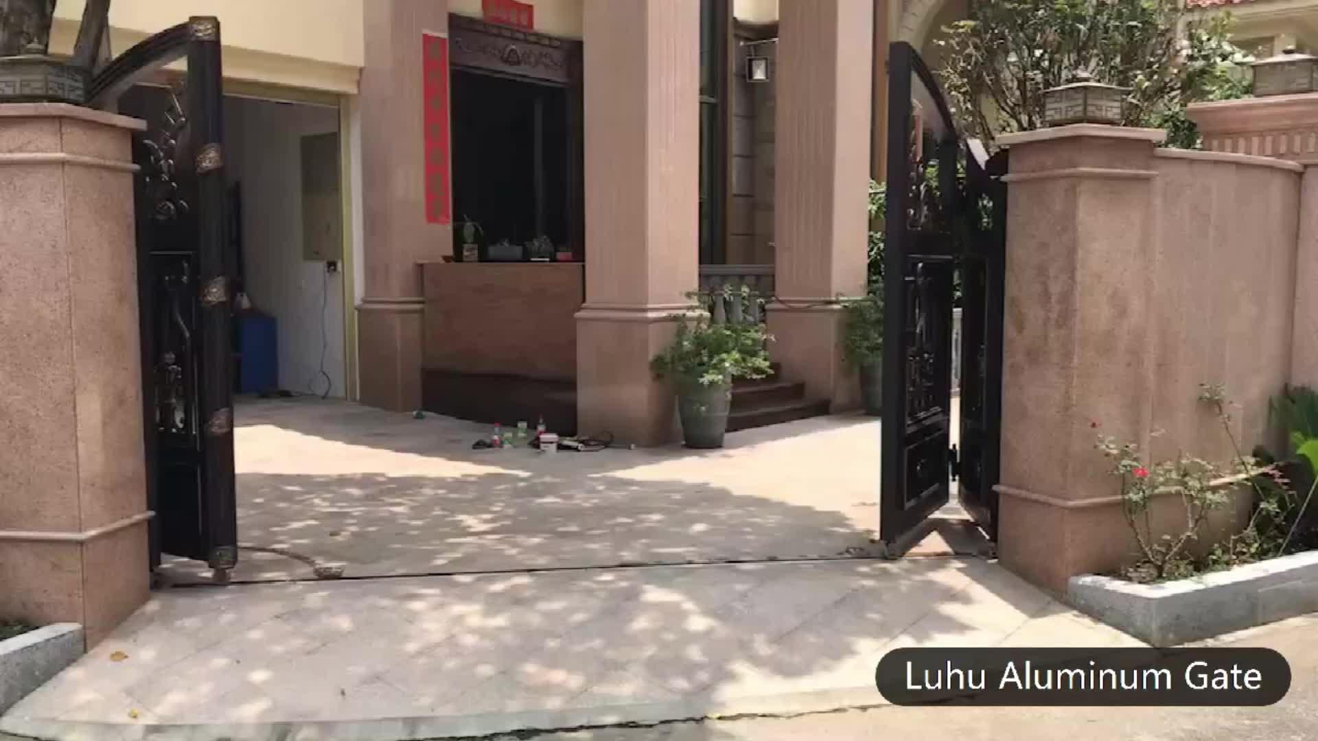 Vietnam fusione di alluminio reale casa glorious saldato cancello disegni esterno principale di ingresso cancello