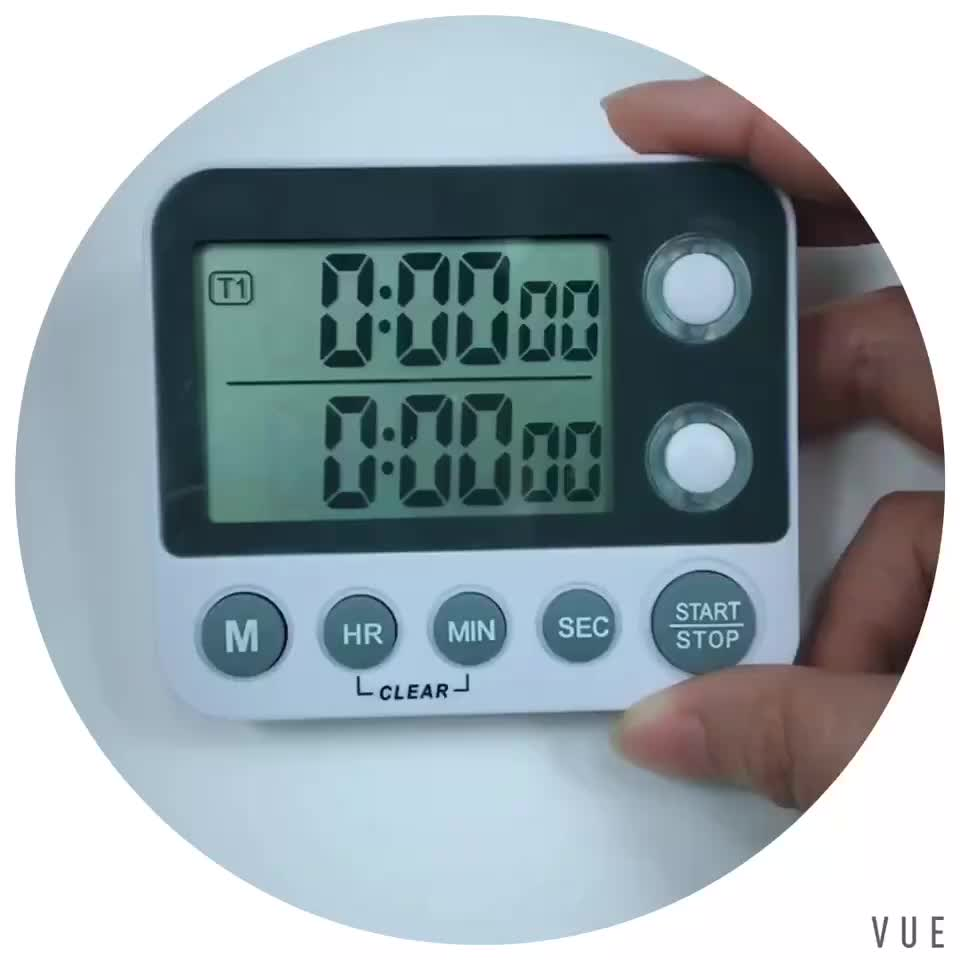 Small Kitchen  Multi Channel 24 Hour Digital Timer With Large Screen