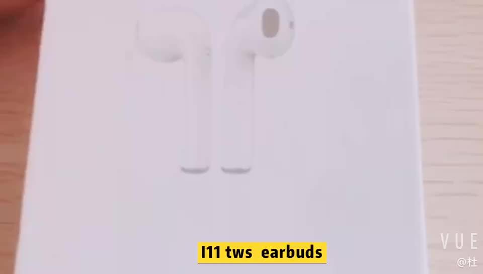 Hot Bán Amazon Cặp Song Sinh i11 V5.0 TWS Earbuds Stereo Với Sạc Trường Hợp Sạc Không Dây