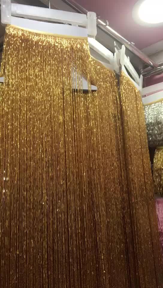 1 メートルの長さゴールドラッパビーズチェーンの房