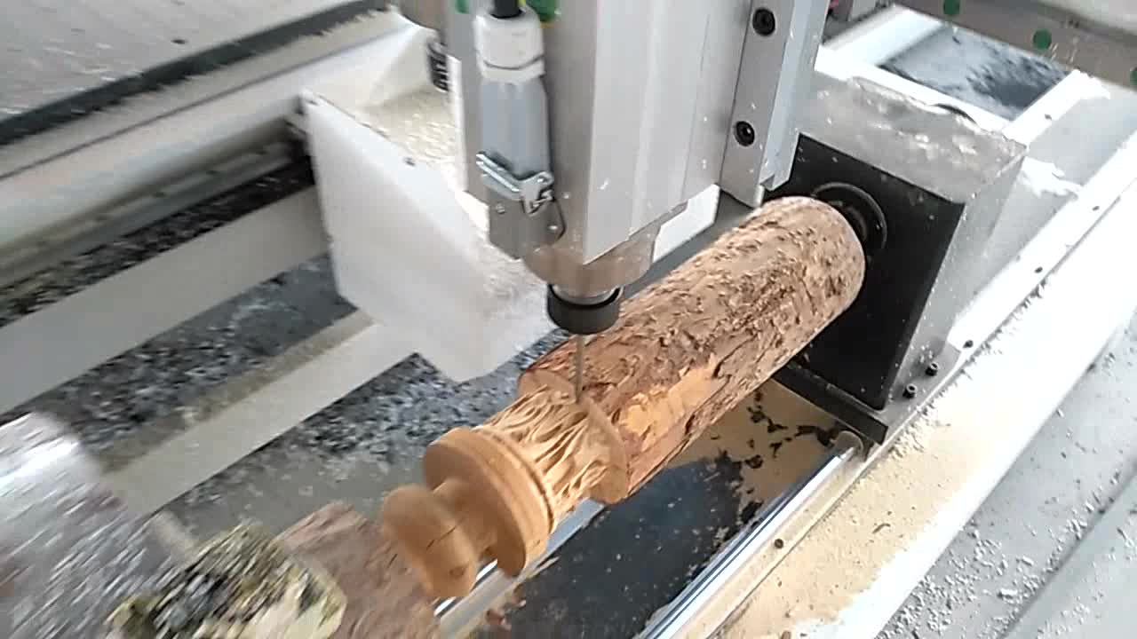 Vacuüm Tafel Waterkoeling Spindel 4 Axis 3D Hout CNC Router