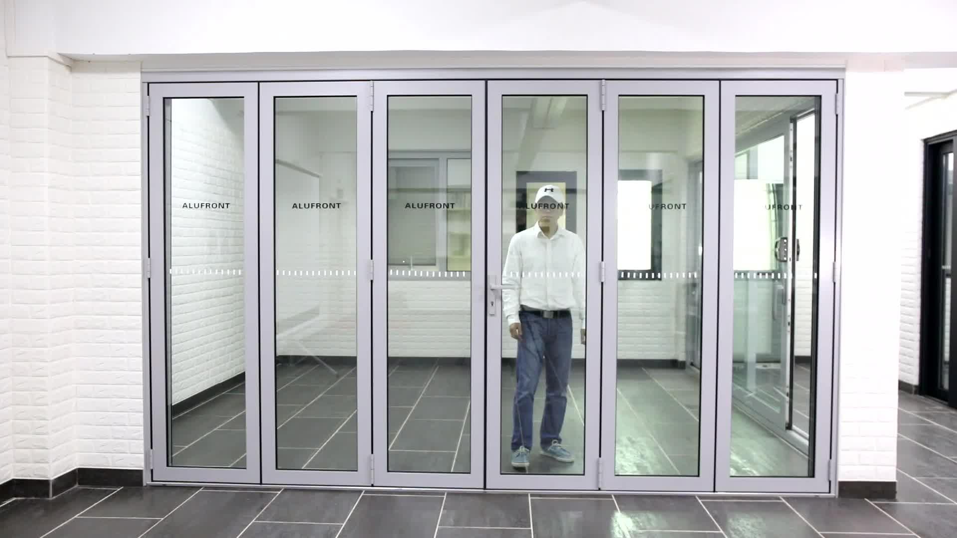 Canada standard double layer glass bi-folding door with German hardware