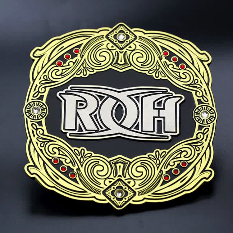 Customize die struck gold silver dual plated metal UFC medallion with diamonds