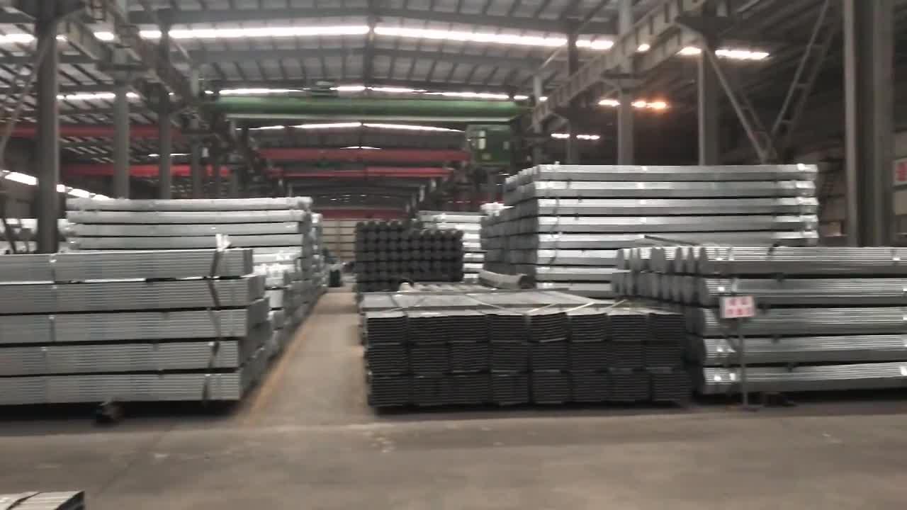 China fabrik heißer dip verzinkt platz rohr/geschweißte quadratische stahlrohr preise pro fuß