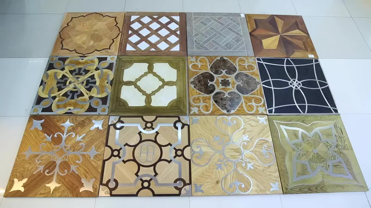 Natural Oak Wood Floor Tiles Hard Wood Parquet Flooring