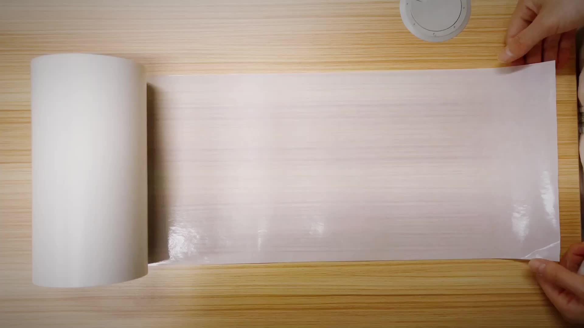 40g beyaz su geçirmez silikon kaplı Glassine yapışkanlı kağıt