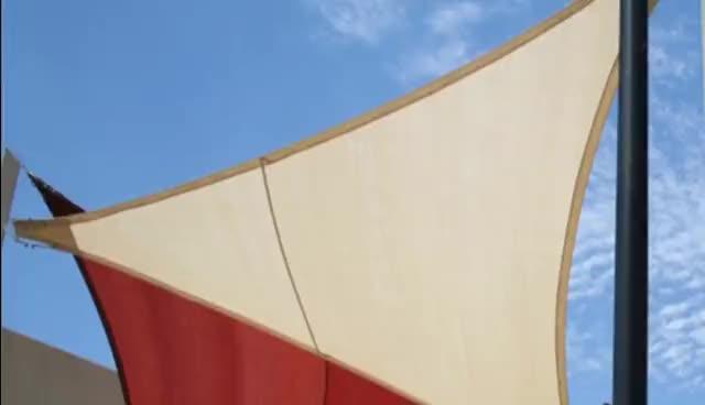 China sail factory shade awning shade sail fabric car park sun shade sail  for outdoor use