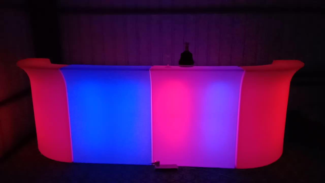 ขายร้อนมือถือเรืองแสงLedบาร์เคาน์เตอร์สำหรับไนท์คลับ