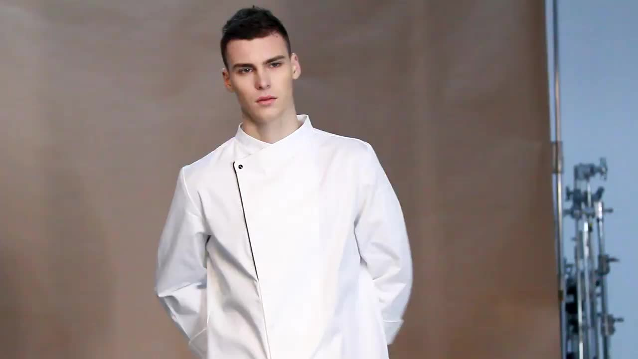 100% Cotton Chef Uniform Kitchen white color cheap all types of best hotel uniforms cook chef clothes clothing coat