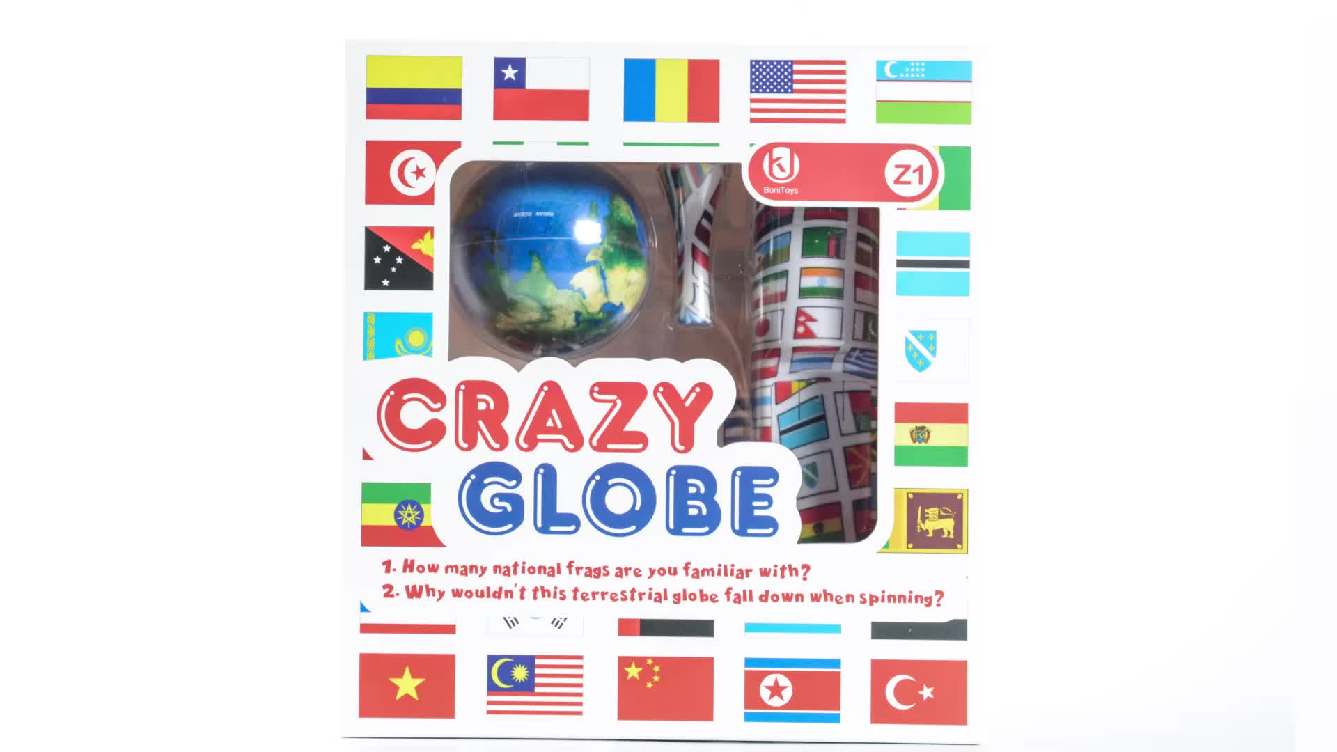 Bonitoys 2018 Newest Product Z1 Crazy Globe toys for Kids Best crazy ball gift