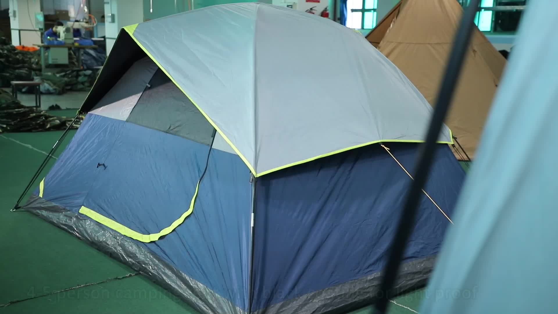 4-5 pessoa Ultraleve Proteção UV Revestimento Preto Portátil Acampamento Ao Ar Livre Tenda À Prova D' Água