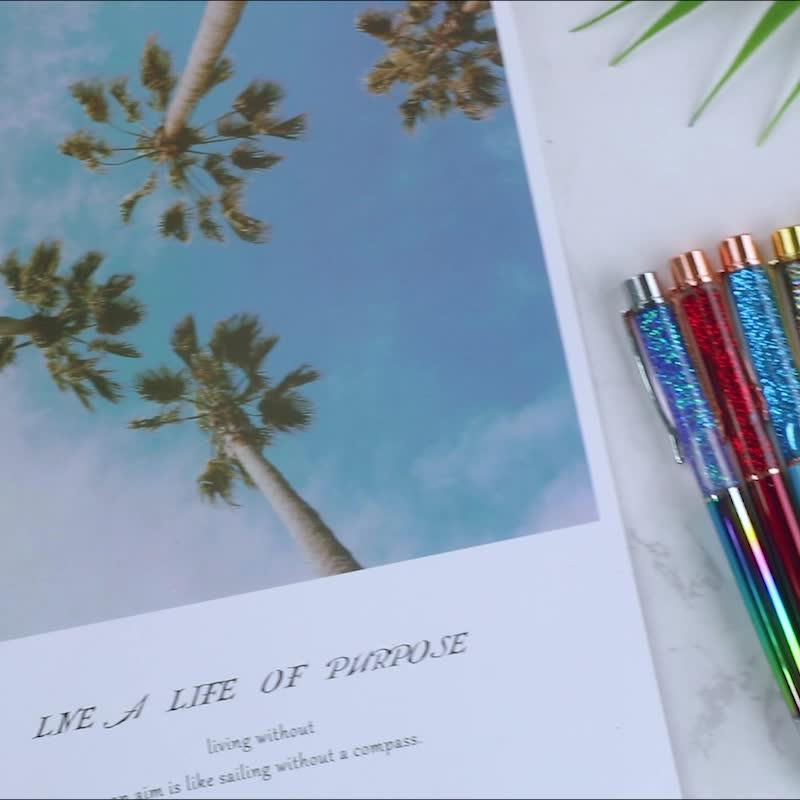 Новый дизайн, розовое золото, металлическая шариковая ручка из жидкой фольги, подарок, рекламная плавающая ручка, шариковые ручки с блестками для творчества