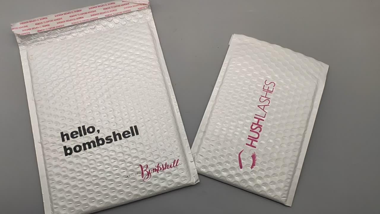 Enveloppes rembourrées à bulles, en aluminium, métallique personnalisé, imperméable, pour la livraison, 50 unités