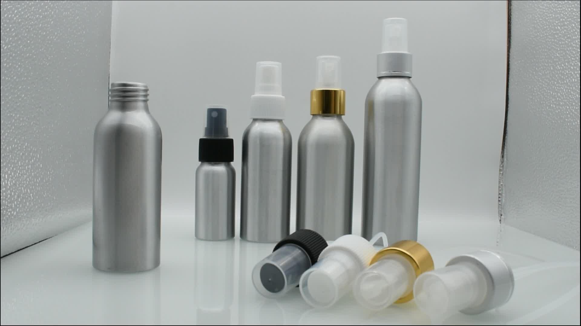 10 ml 15 ml 30 ml 50 ml 60 ml 120 ml 150 ml minyak esensial aluminium semprot botol dengan topi plastik semprot untuk minyak esensial e cair
