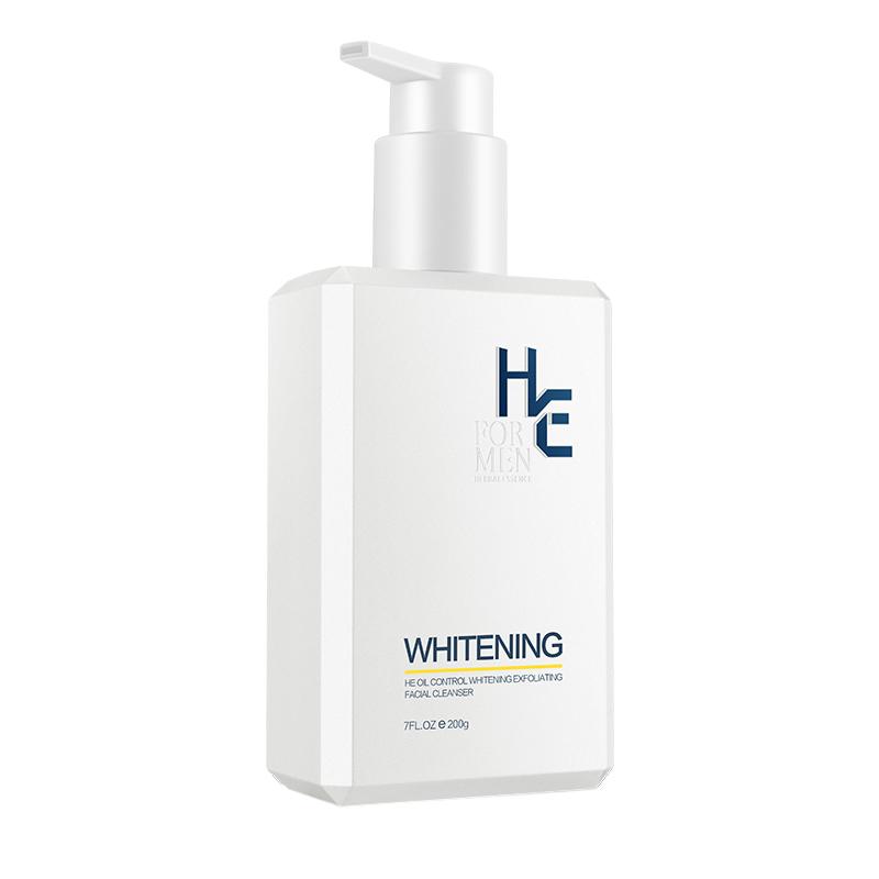 包邮赫恩男士美白洗面奶200g清洁温和祛黑头烟酰胺护肤洁面乳淡印