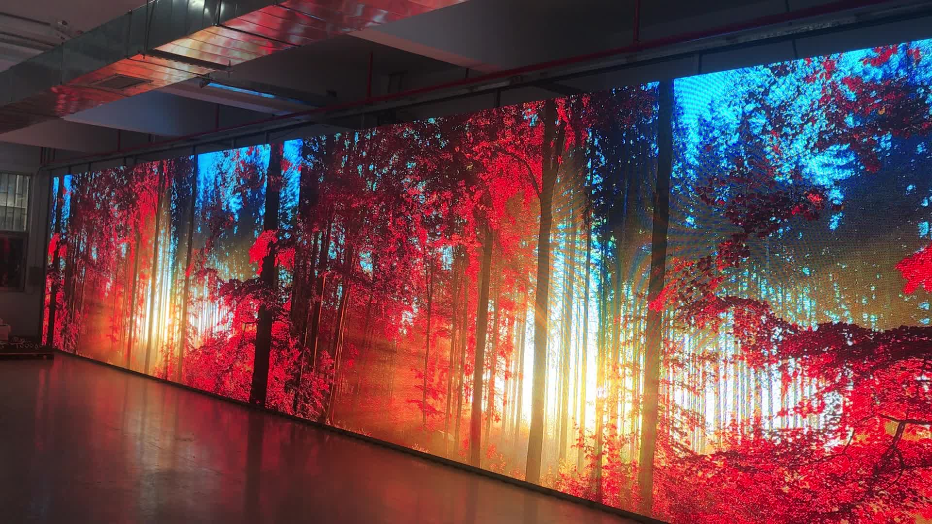 HD p3.91 500x1000mm full color indoor led video wall rental