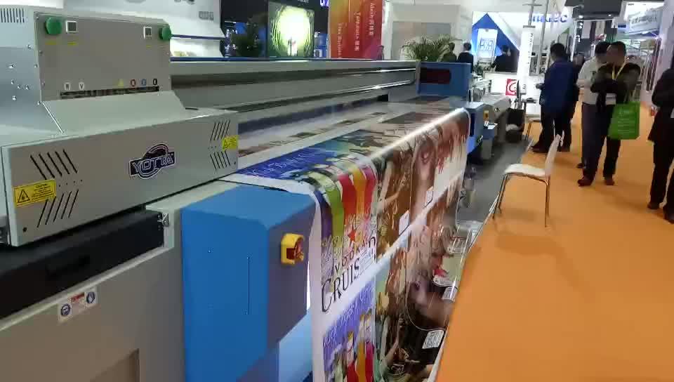 3d wallpaper uv printer canvas pvc film 3.2m digital led hybrid printing machine