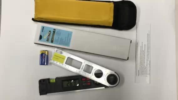 Цифровой калиброванный протрактор Инклинометр мини-Угол finder спиртовой уровень алюминиевый Цифровой угловой метр