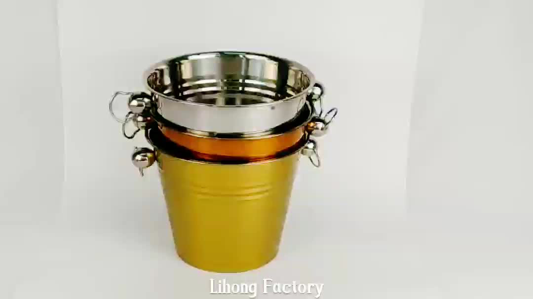 6L Super Cheap Copper Ice Bucket Stainless Steel Champagne Bucket Wholesale