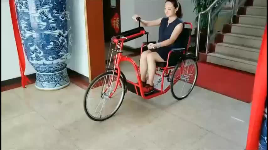 Free Shipping Wholesale B2B Hands pitching Handcycle disabled handicapped tricycle for disabled