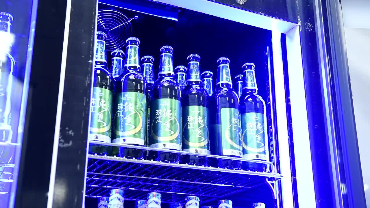 Vetrina refrigerata a due porte display in vetro di birra frigorifero gabinetto