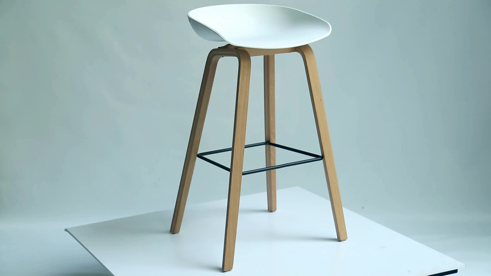 Warna Putih PP Tinggi Kursi Bar Kayu Kursi Bar Furniture Bar Bangku Kursi