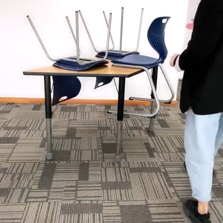 height adjustable office and school activity classroom table and chair