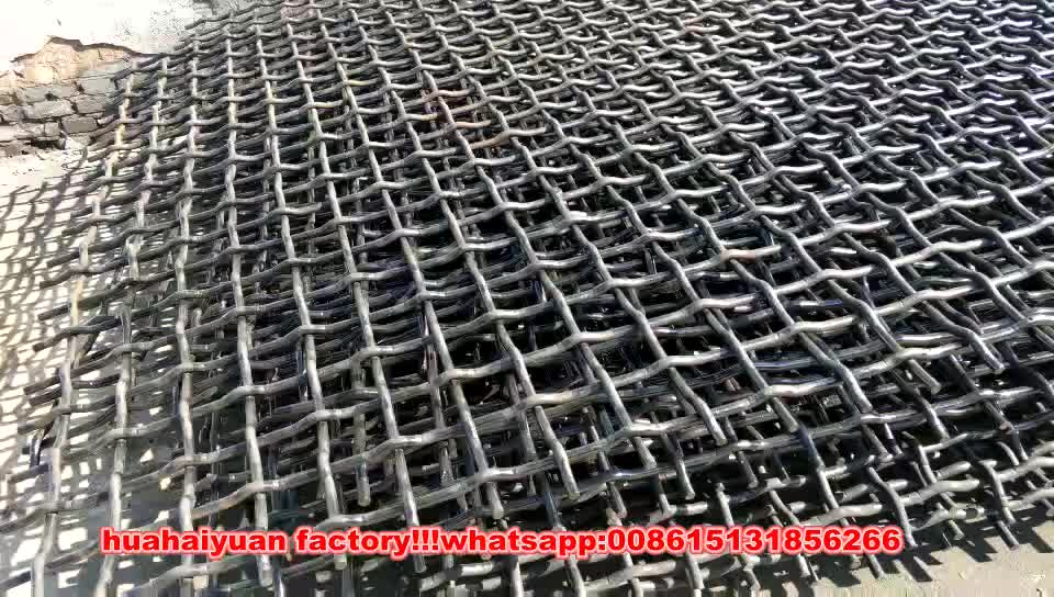 Sand and stone crusher screen mesh with wrapped edge vibrating mesh screen