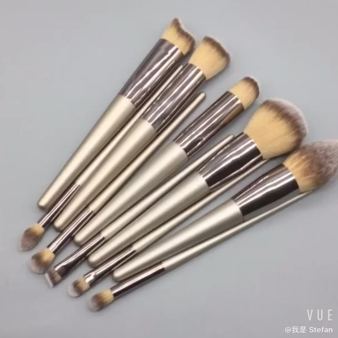 foundation powder eye shadow kabuki makeup brushes set