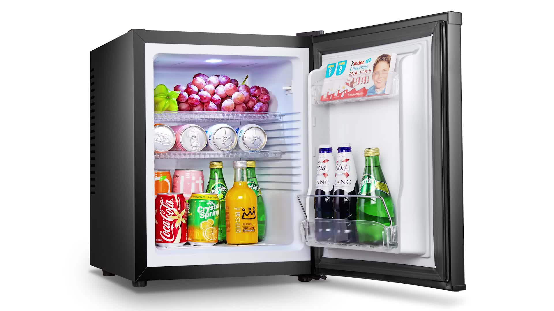 BCH-40A super cooling thermoelectric glass door compact refrigerator