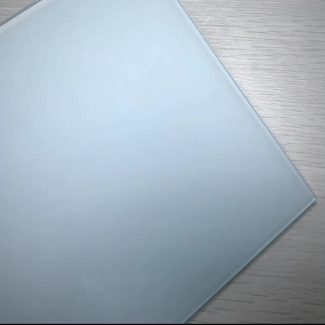 Toptan fiyat 4 + 0.76 + 4mm opak sütlü beyaz lamine cam 8mm