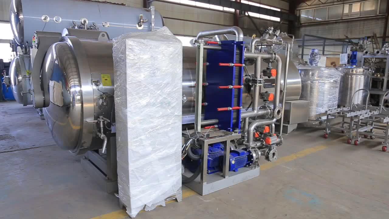 Zongon yüksek sıcaklık buhar konserve balık süreci imbik kap makinesi