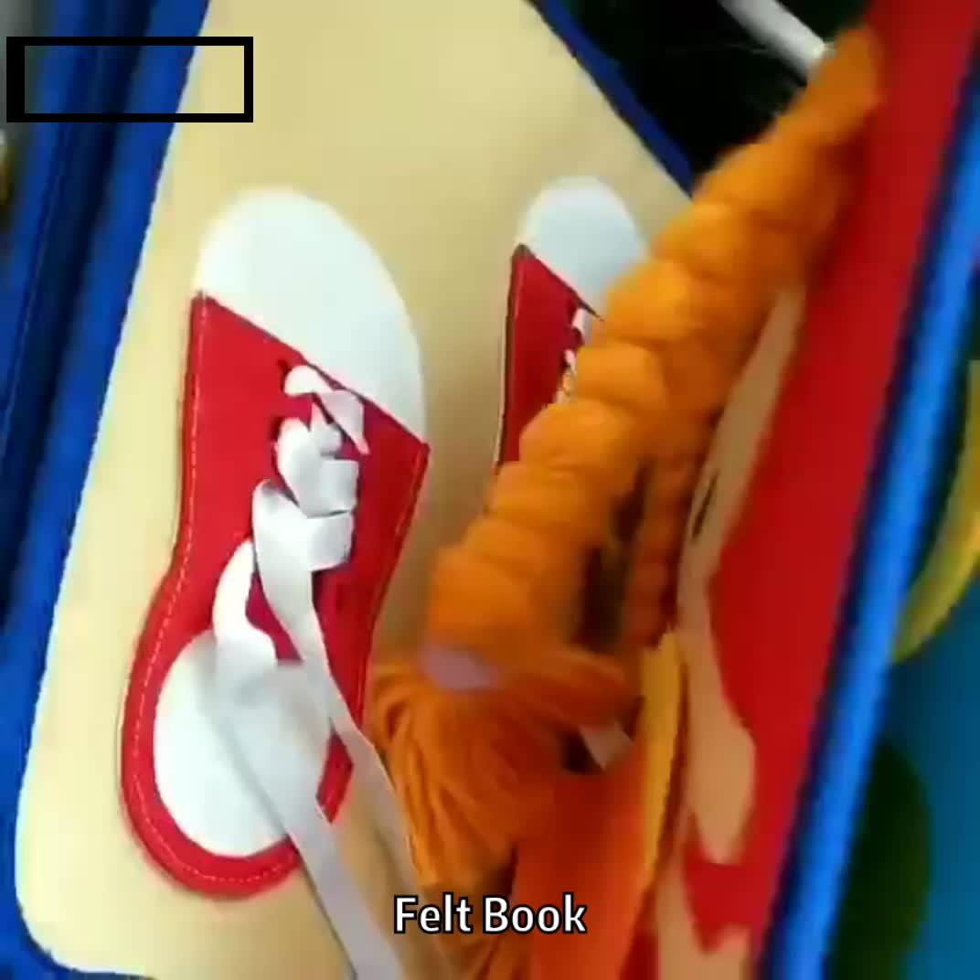 Aangepaste zachte handgemaakte my quiet boek vilt doek boek voor kinderen