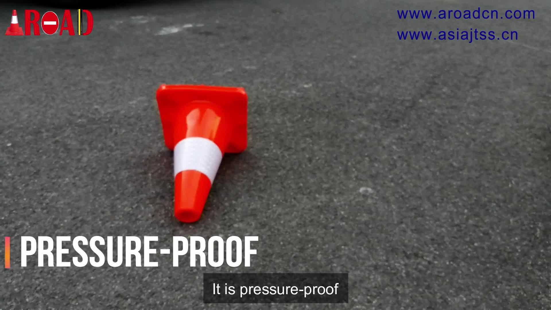 ייצור מכירה למעלה 70 cm כביש קונוס גמיש PVC בטיחות משמש תנועה קונוס