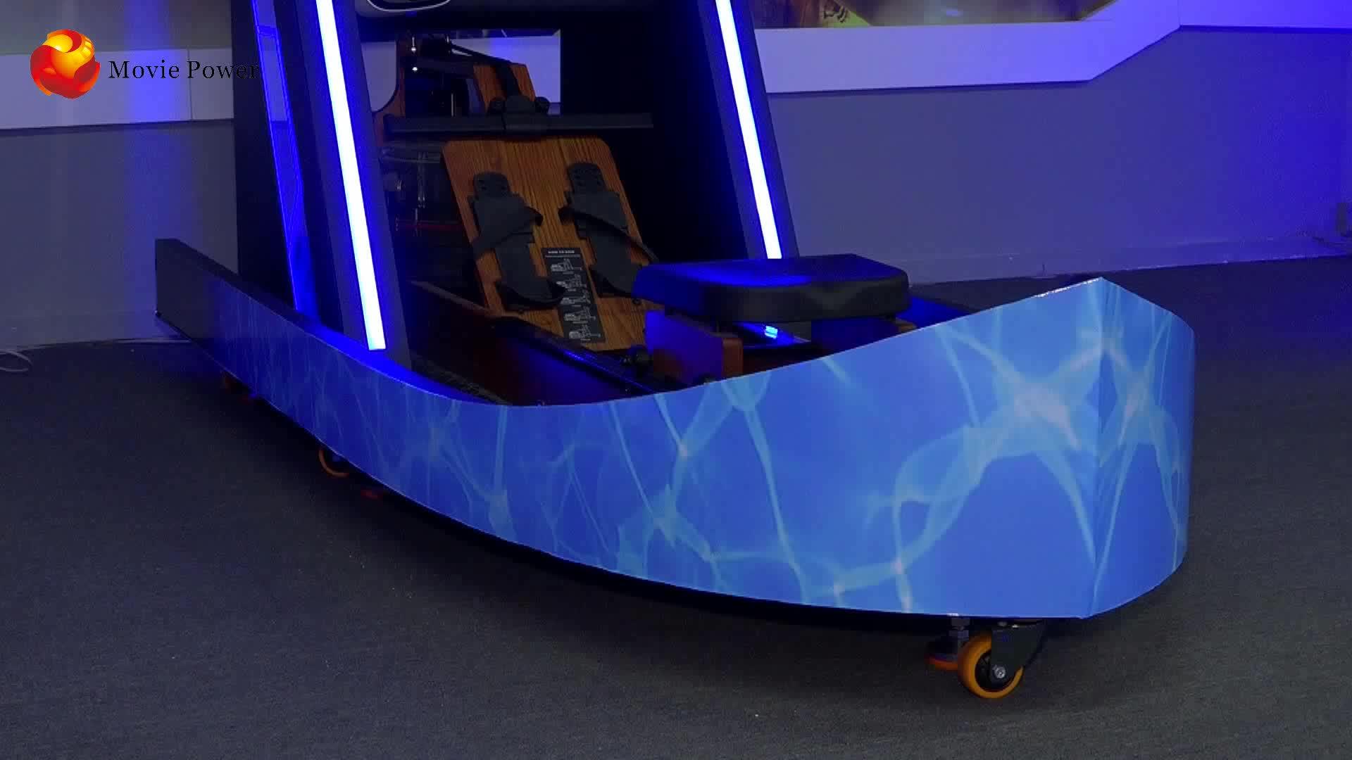 Plataforma de movimento Ginásio Corpo Forte 9D Vr Rafting Barco Simulador de Máquina de Fitness Equipamentos de Exercício de Realidade Virtual