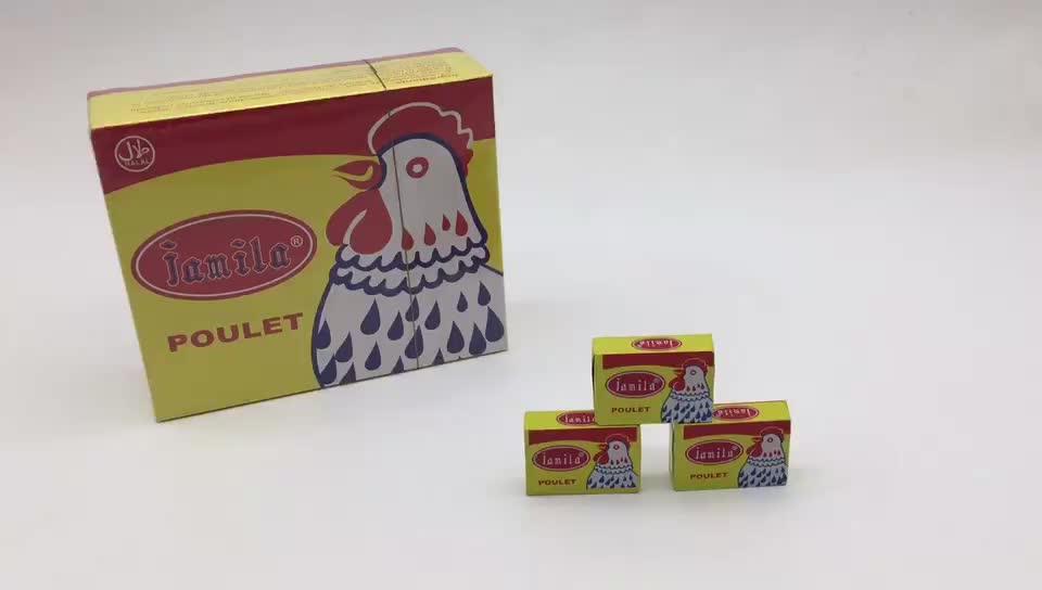 Harga Murah Pabrik Cina Pasar Halal Afrika Bumbu Campur 10G Cube Ayam Bubuk Instan Bouillon Sup Kubus