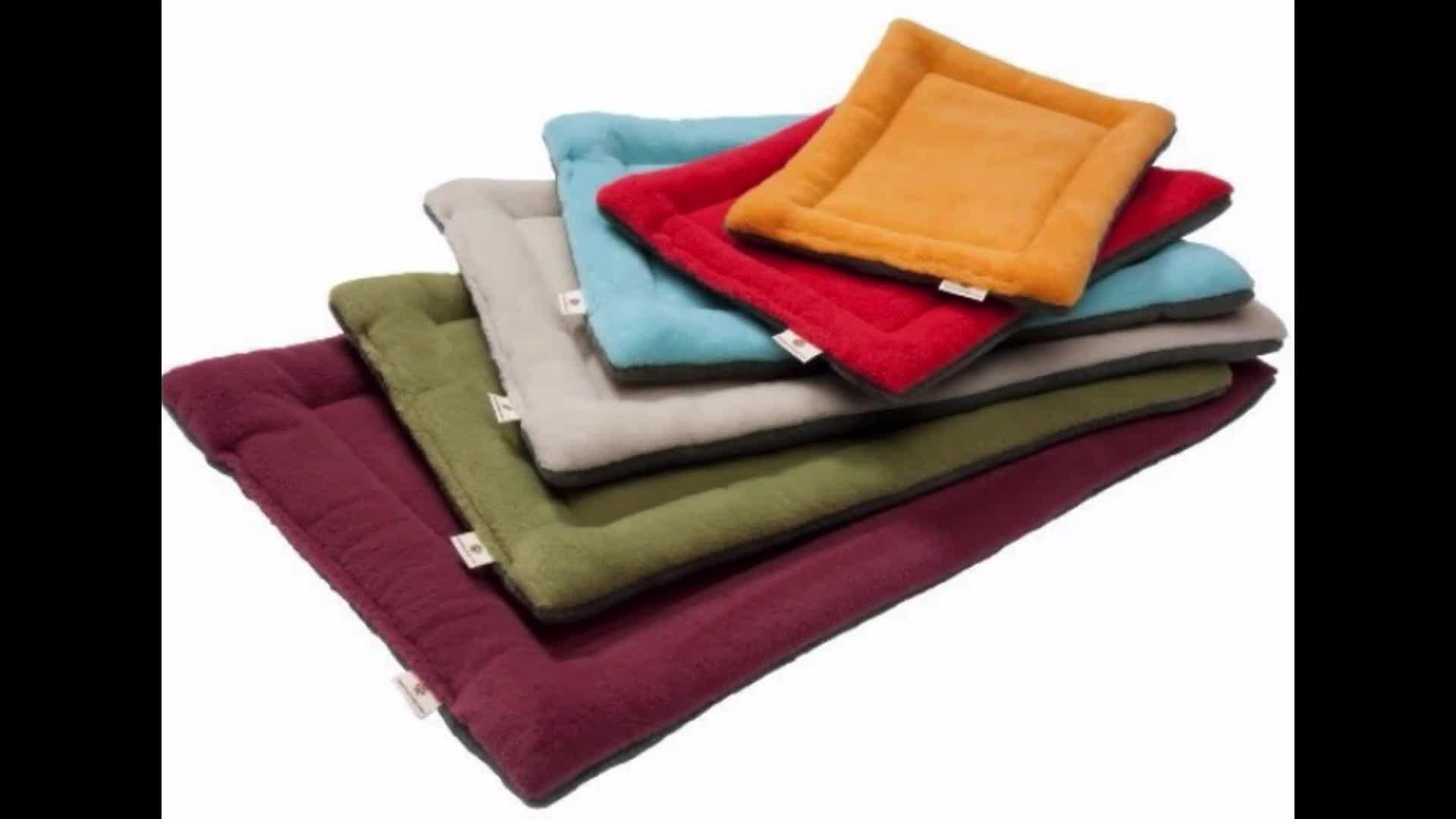 Alfombrillas de invierno para cama de perro, manta cálida de Color suave con forro polar para mascotas, fundas para cama para perros pequeños, medianos y grandes