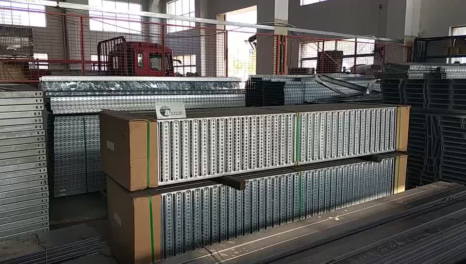HDG perforated ladder type cable tray