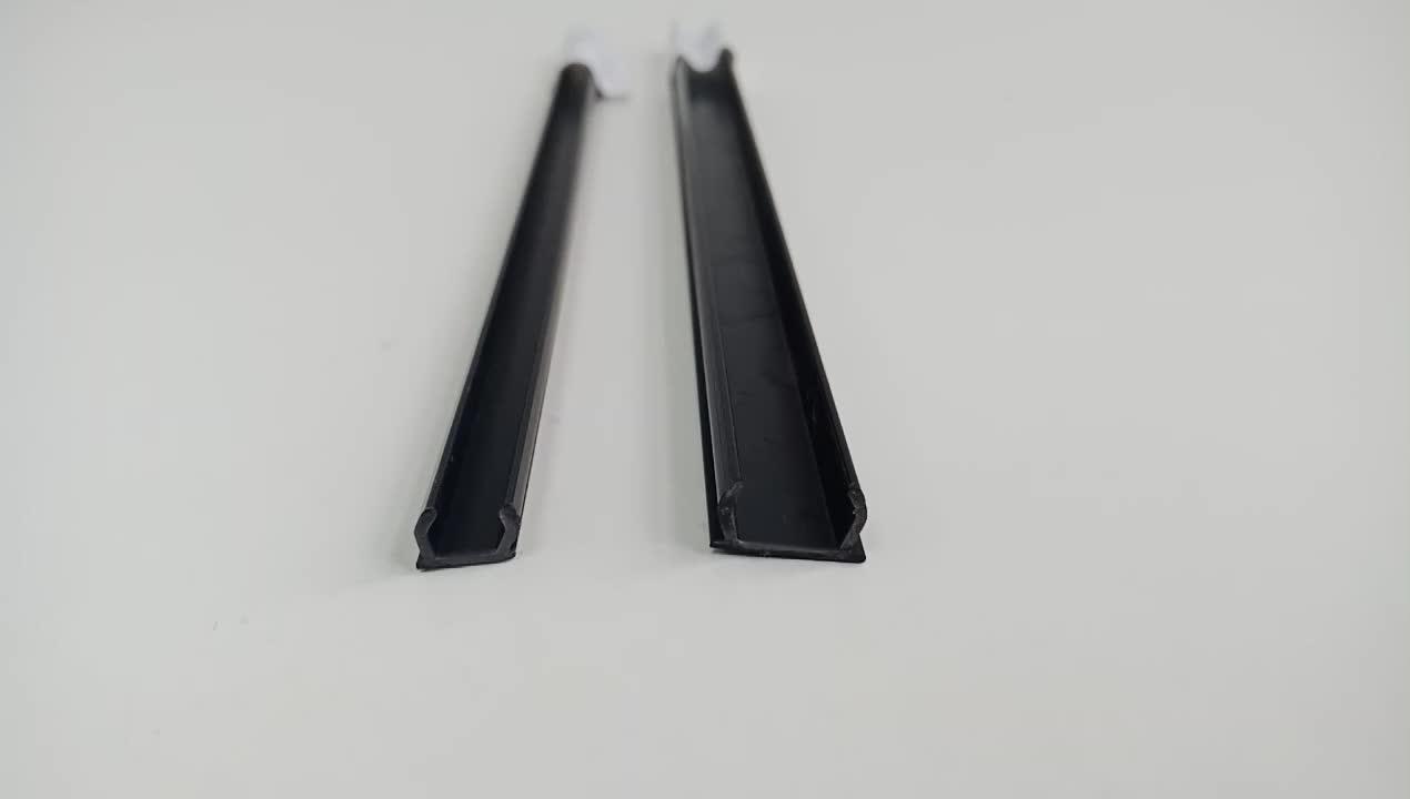 שחור Pvc Pp אלומיניום פרופיל מוצק איטום בלוק חומר 8 חריץ כיסוי