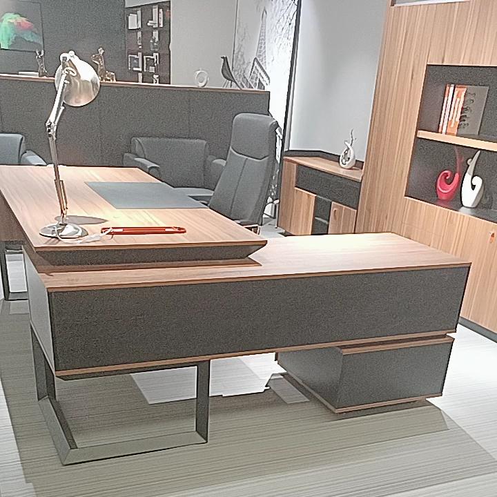 लकड़ी Melamine कार्यकारी कार्यालय की मेज डिजाइन विनिर्देशों 728-T02 कार्यालय फर्नीचर डेस्क