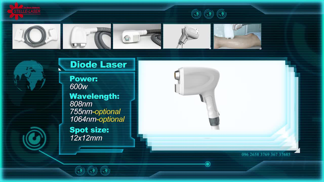 Best Results 4 technology in one machine Tattoo Removal nd yag laser Diode laser IPL hair removal RF