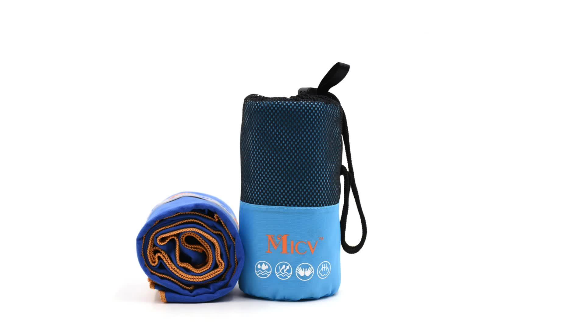 Premium-Mikrofaser-Yogamatte mit aufgesetztem Private Label-Handtuch