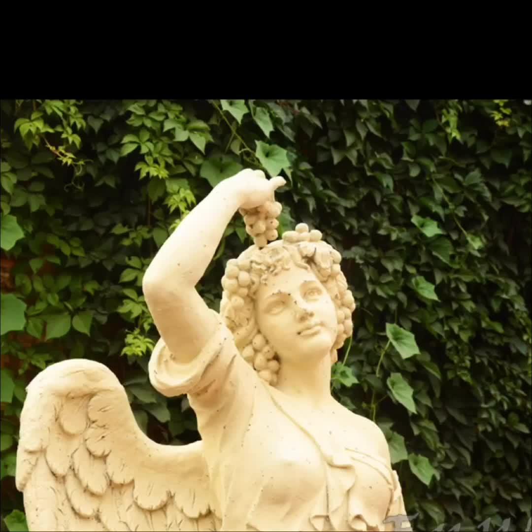 Rustico di Grandi Dimensioni In Metallo Decorativo per La Casa e Giardino Statua di Angelo di Arte scultura