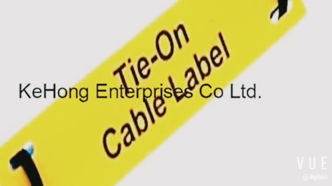 Label printing electrical cable marker plates